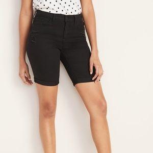 Old Navy NWOT Black Denim Bermuda Shorts